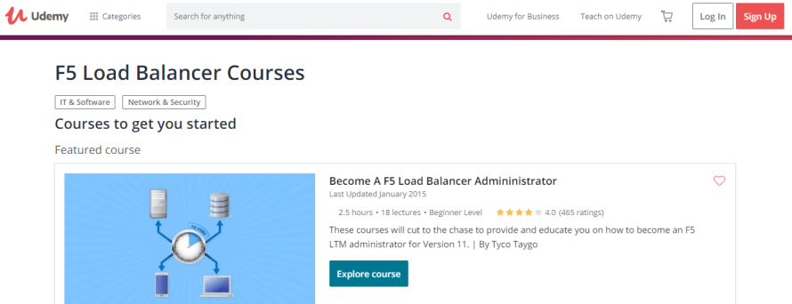 Udemy - F5 Load Balancer courses learning courses & training