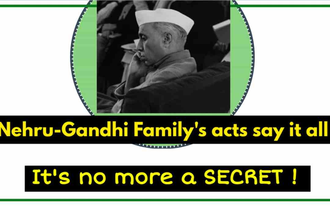 Acts & deeds of Nehru Gandhi Family, which discloses their religion