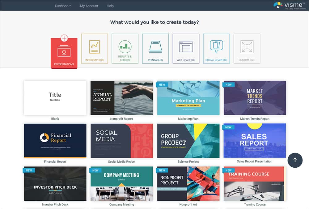 Visme web design resource & tools