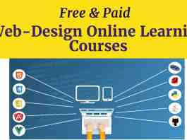 Free & paid Web design online learning courses