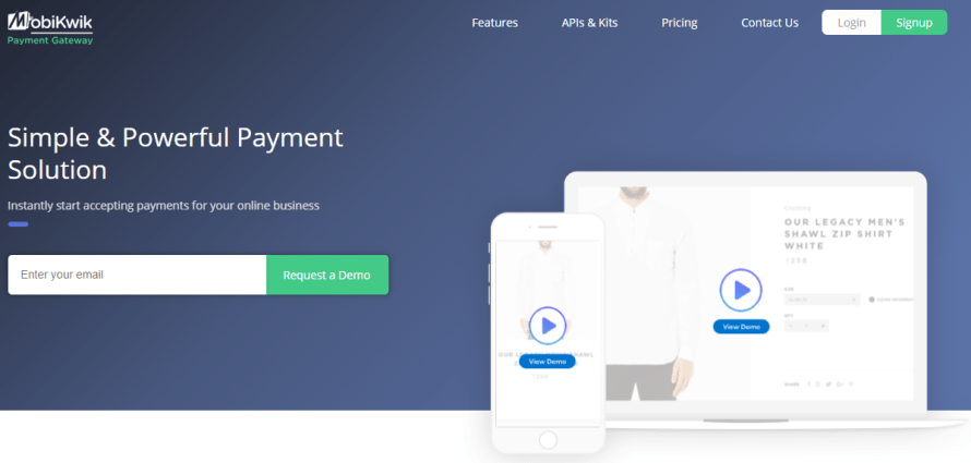 Mobikwik payment gateway for business