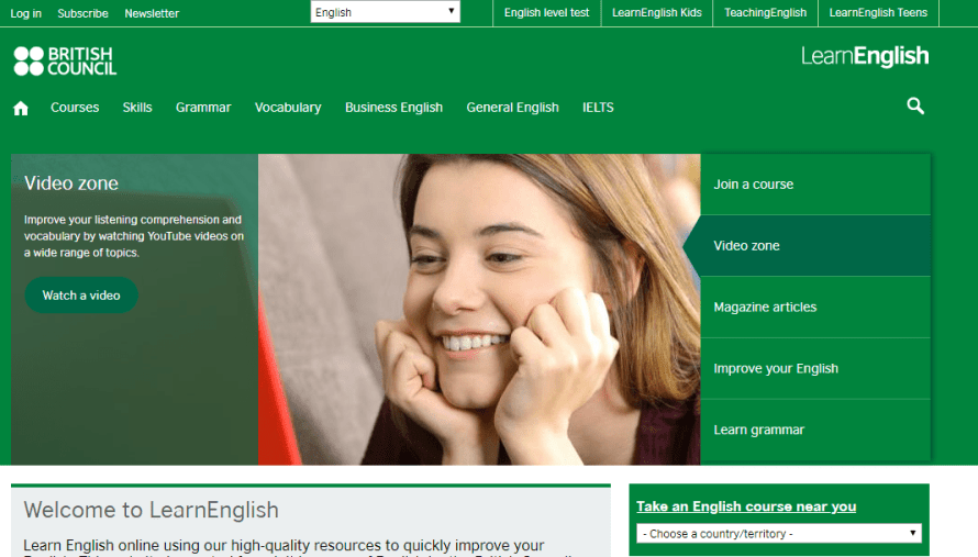 best english learning websites - British Council English Learning