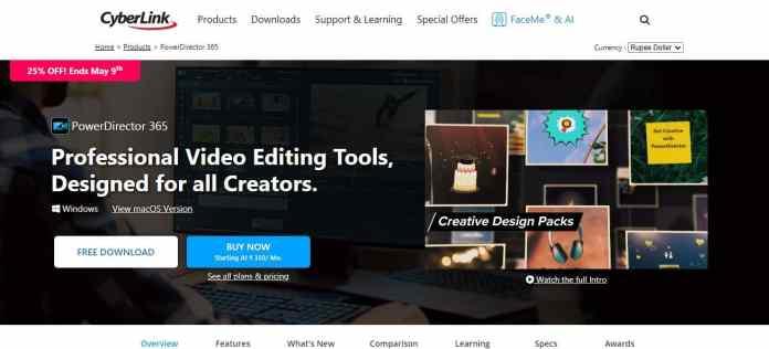 cheap video editing software under $50 - PowerDirector 365
