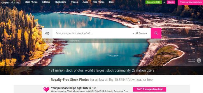 Dreamstime as an alternative to Shutterstock