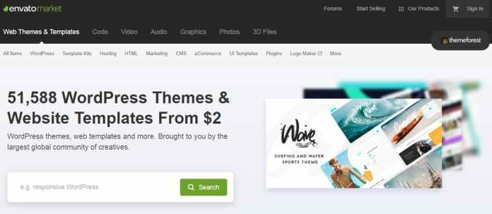 themeforest as an alternative to creative market