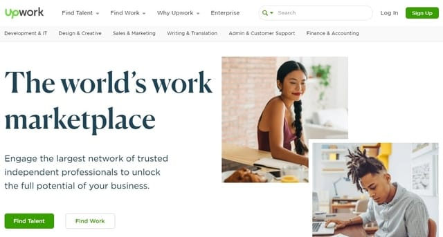 upwork to hire top freelance talent