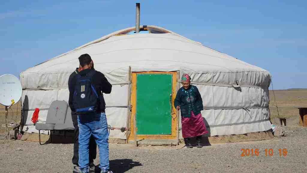 Old lady at the Yurt
