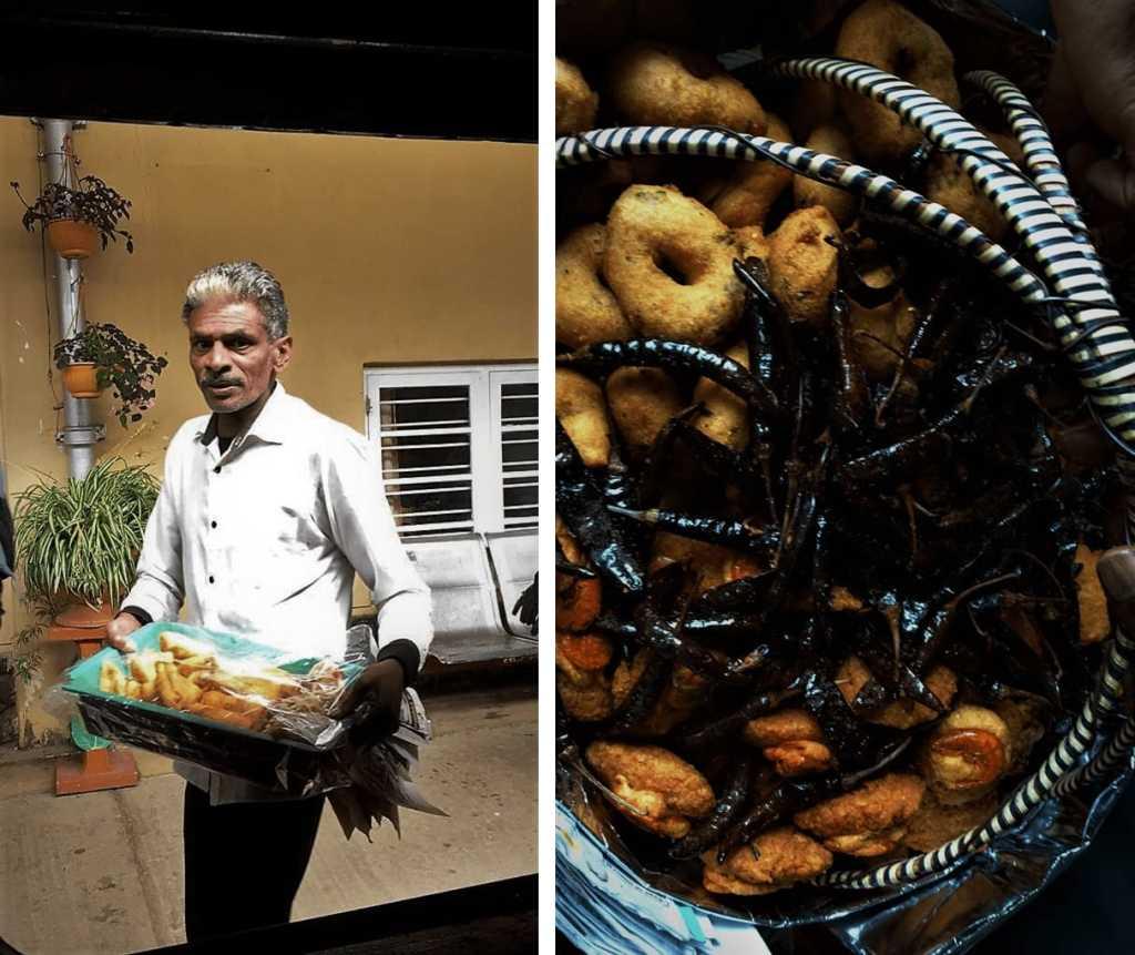 Street food in Sri Lanka; vadai