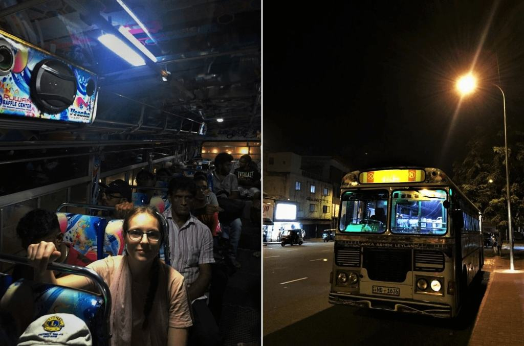 Busses in Sri Lanka; large speaker