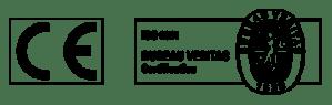 Logotipos CE y ISO 9001
