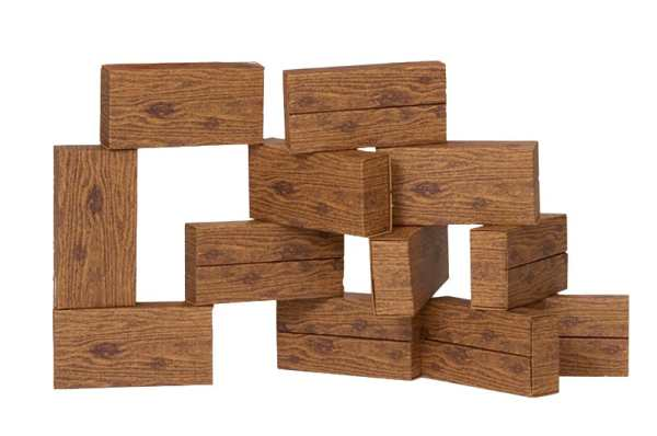 Giant Building Blocks -stack of timber building blocks