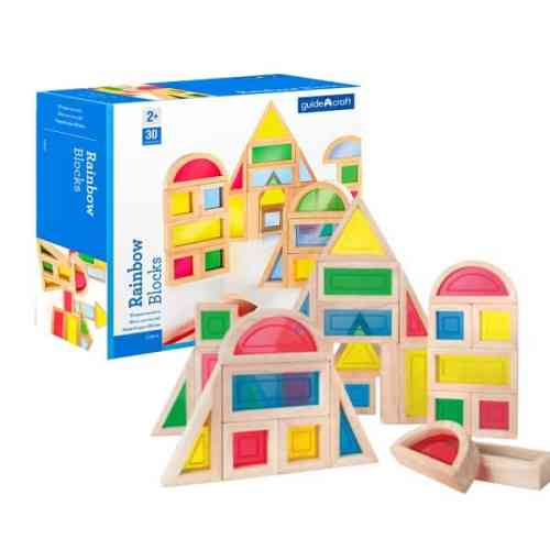 wooden blocks for kids-rainbow blocks-wooden blocks with colorful acrylic window insets