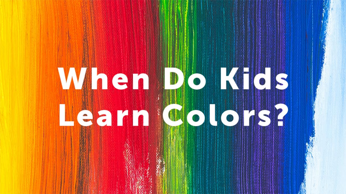 when do kids learn colors-rainbow colored canvas