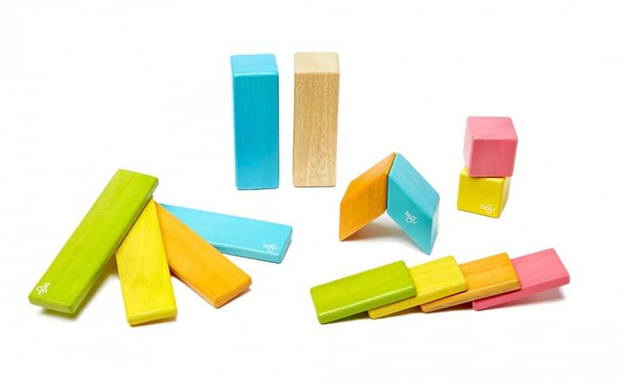 tegu magnetic wooden blocks - tegu 14 piece, tegu tints
