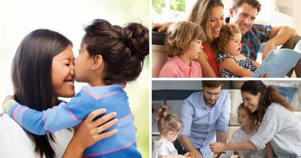 cool gifts for kids-images of families playing together