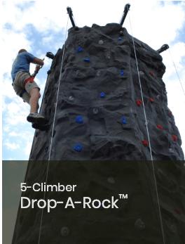 5 Climber Drop a Rock