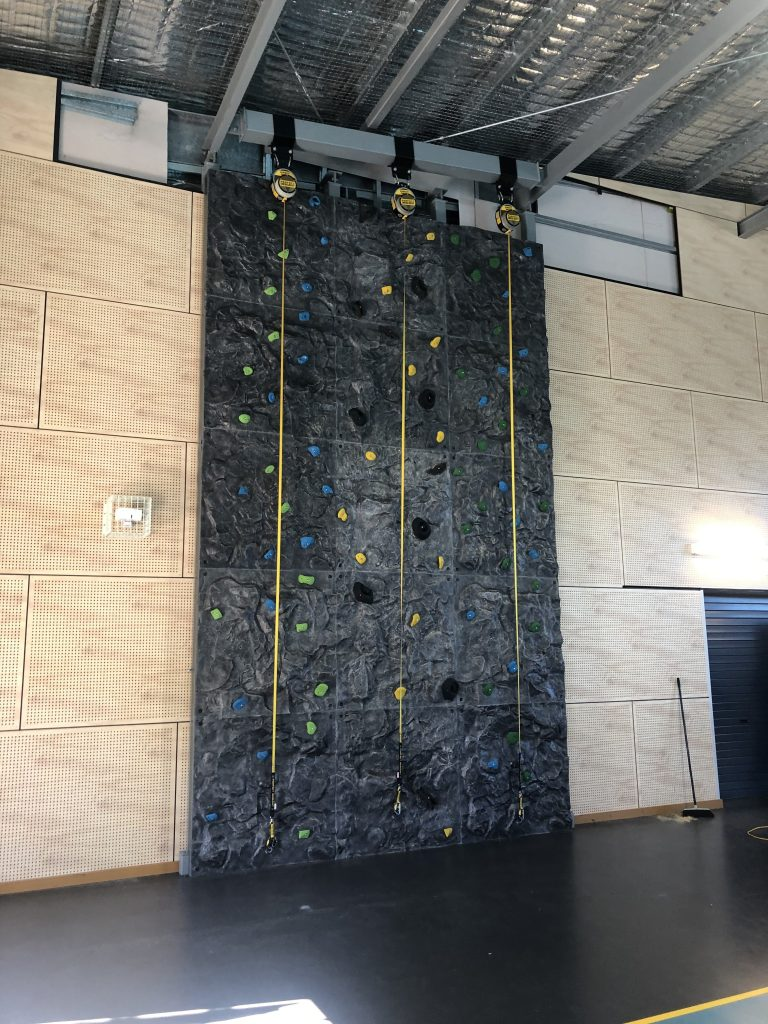 Indoor Climbing Wall with 3 Automatic Belays