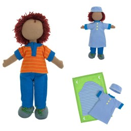 This fair-trade, 100% organic cotton Prayer Time Doll Set is one of the 4 designs we have left in stock. A toddler would enjoy holding him close and bringing him along for prayers. Dolls are a great way for children (boys and girls) to practice parenting skills and engage in dramatic play. Price: $35.00