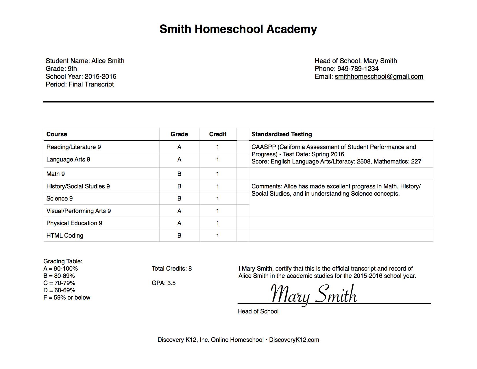 Parent Teacher Account