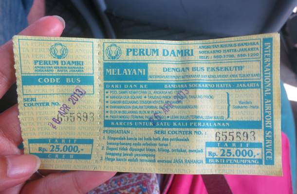 cheapest way from jakarta airport