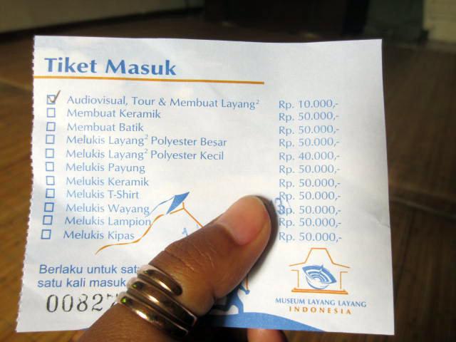 ticket museum layang layang indonesia