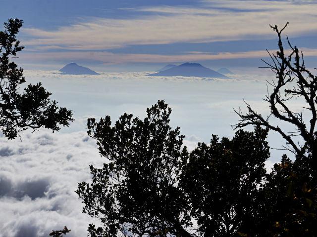 mountain climbing in Indonesia