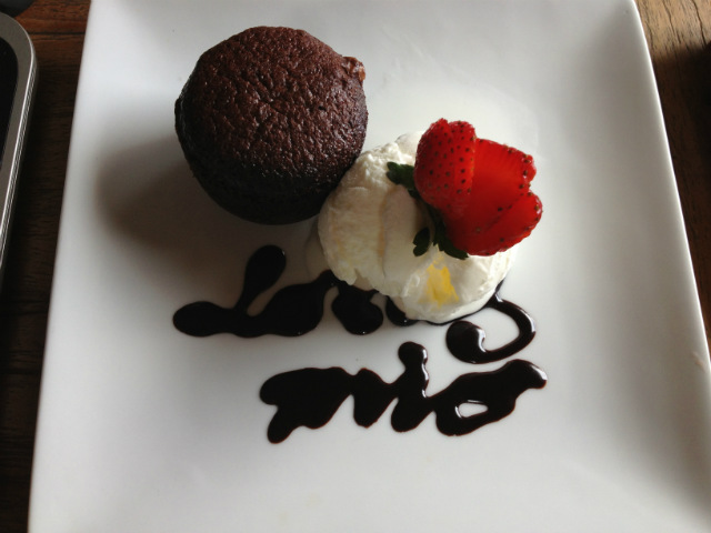 chocolate lava cake lotus mio