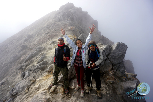 the top of merapi volcano