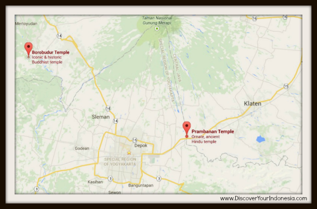 Prambanan Borobudur map