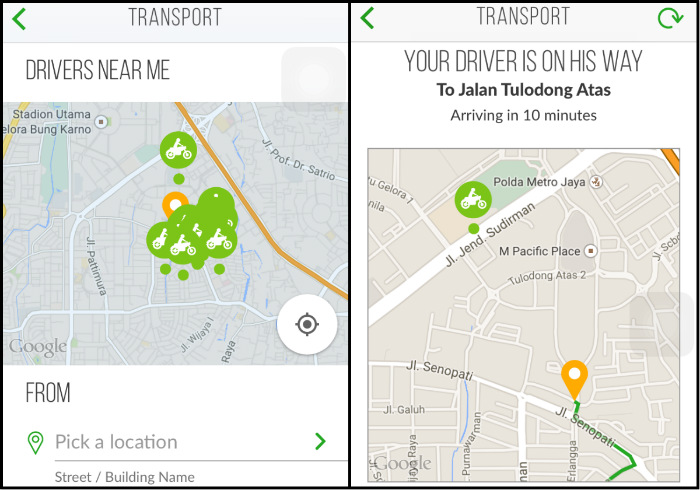 gojek jakarta transportation alternative