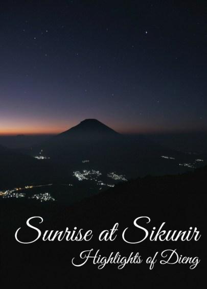 Sunrise at Sikunir Hill, Dieng