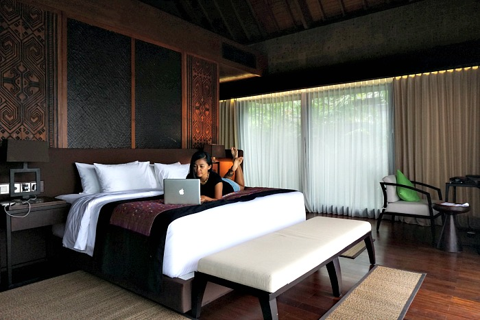 bedroom of Sanctoo villa Bali