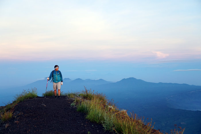 Preparing to climb Mt Agung, Mount Agung, Bali