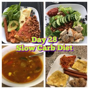Day 28 Slow Carb diet