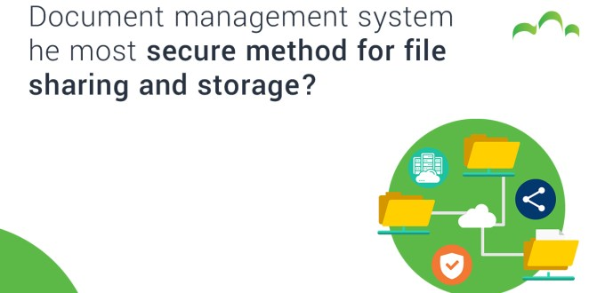 Document management system - Is it the most secure method for file sharing and storage?