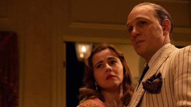 Tom Hardy and Linda Cardellini in 'Capone' dir. by Josh Trank