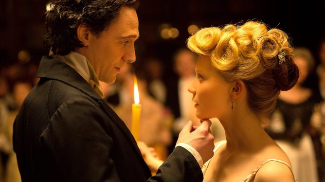 Mia Wasikowska and Tom Hiddleston dance the waltz as seen in Crimson Peak.