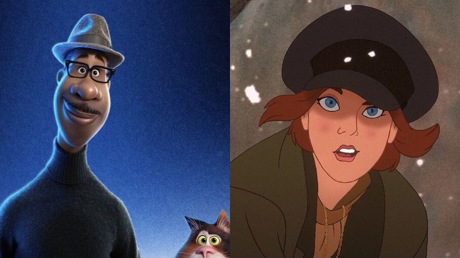 Jamie Foxx's lead character from Pixar's Soul and Anastasia from Fox's hit 1997 film, two big films coming to Disney+ this December.