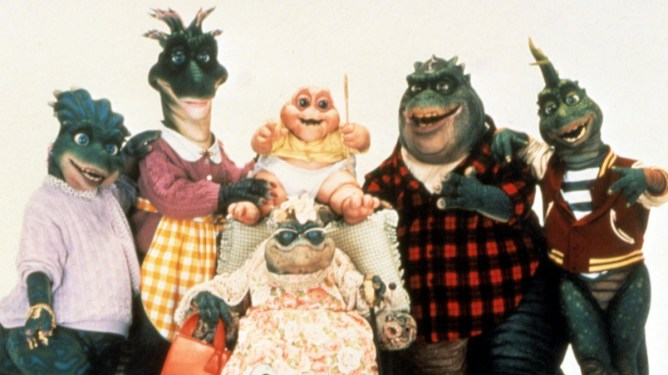 The family cast of the famed cult show Dinosaurs finally coming to Disney+ in January 2021.