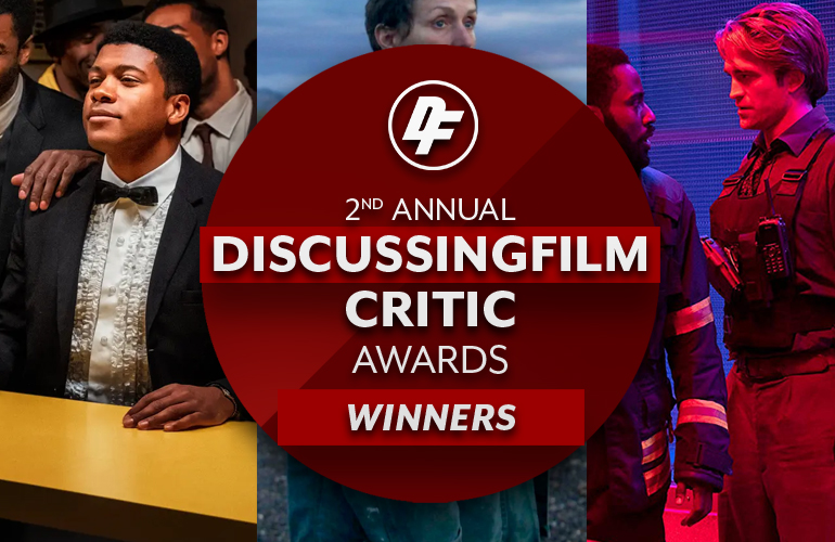 A collage celebrating some of the winners of the 2nd Annual DiscussingFilm Critic Awards!