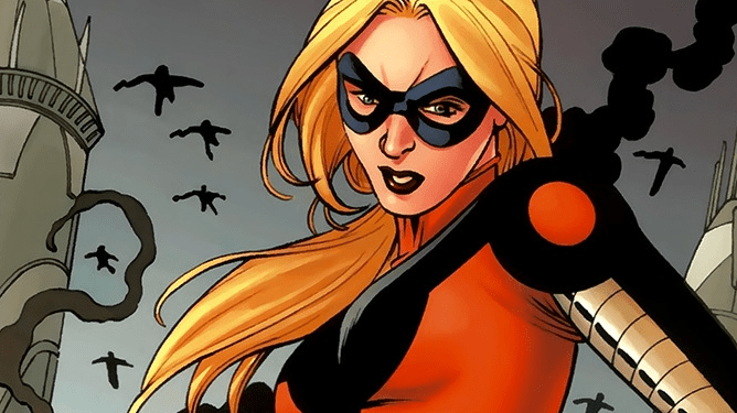 Cassie Lang or Stature from the Young Avengers as seen in Marvel Comics.