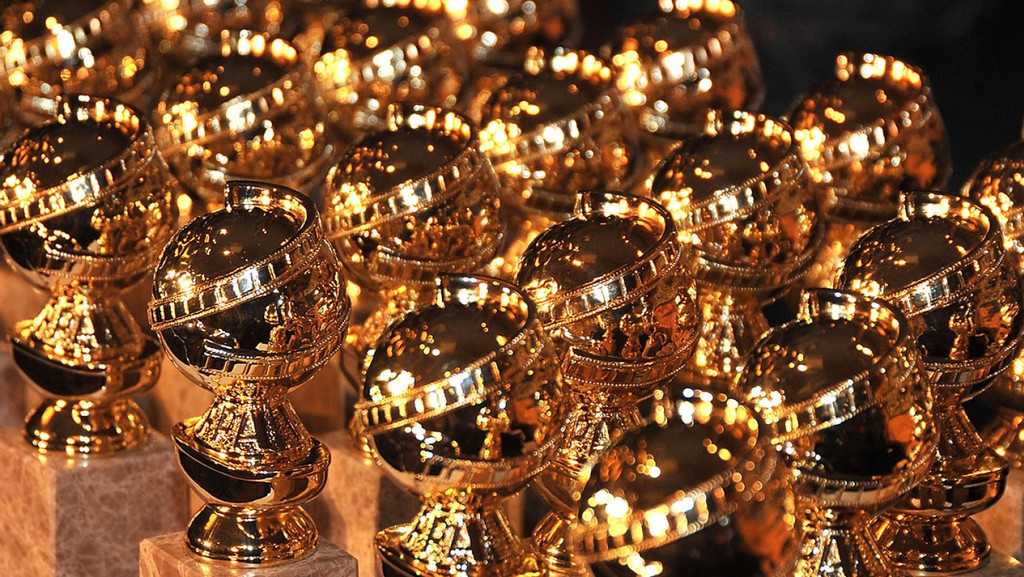 The Golden Globe Statues handed out to winners at the Golden Globe Awards.