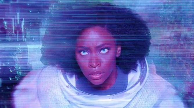 Monica Rambeau transforming into Photon/Spectrum in Episode 7 of WandaVision.