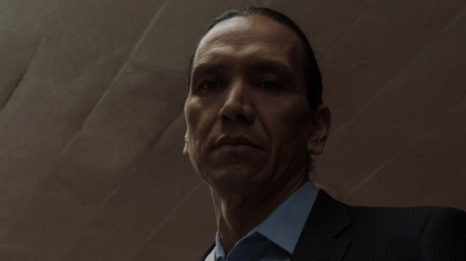 Michael Greyeyes stars as Makwa in the Sundance 2021 film Wild Indian.