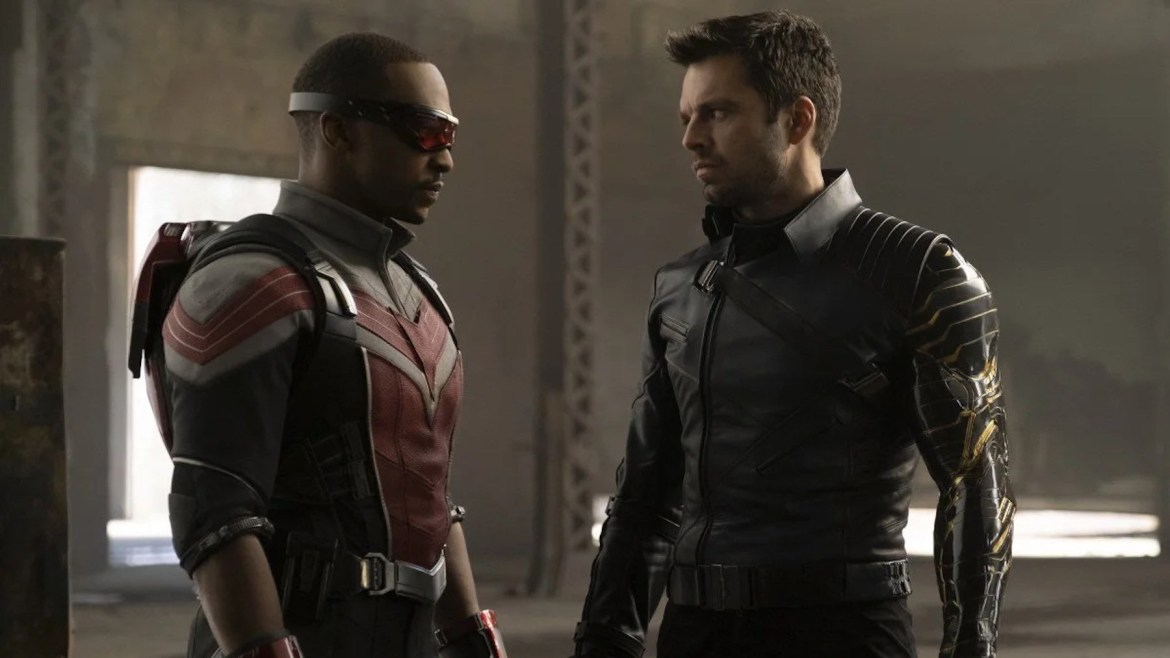 Anthony Mackie and Sebastian Stan in episode 2 of Falcon and the Winter Soldier