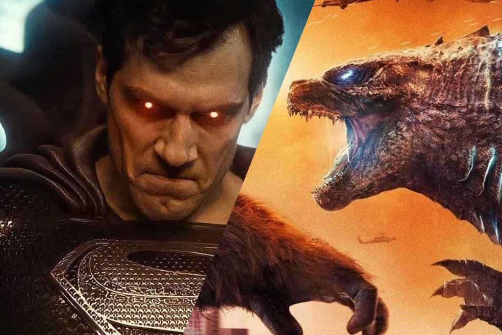 A Collage of Superman and Godzilla from Justice League and Godzilla vs. Kong with music by Junkie XL.