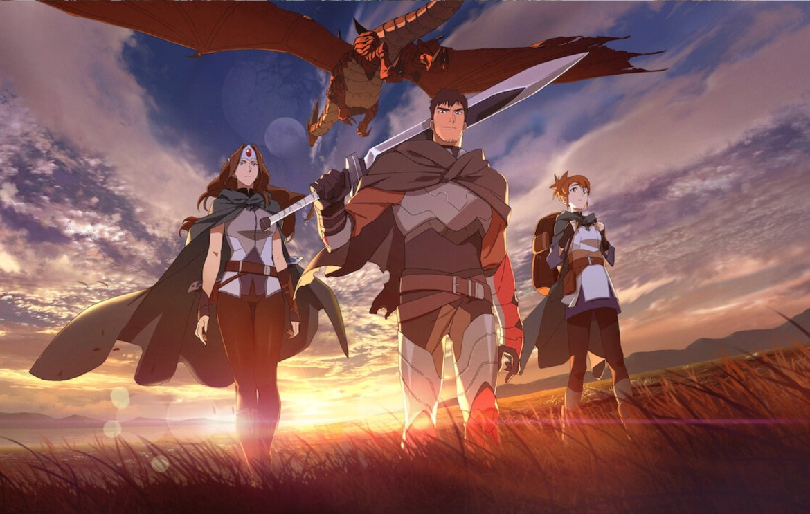 The poster for the new Netflix anime series Dota: Dragon's Blood.