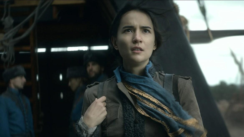 Jessie Mei Li as Alina Starkov in the Netflix adaptation of the hit fantasy series Shadow and Bone.