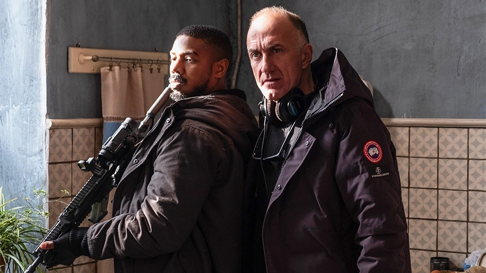 Director Stefano Sollima on the set of Tom Clancy's Without Remorse with Michael B. Jordan as John Kelly.