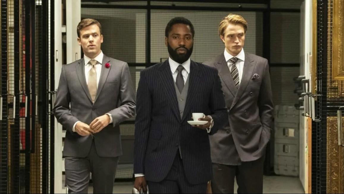 John David Washington and Robert Pattinson as seen in Tenet coming to HBO Max in May.